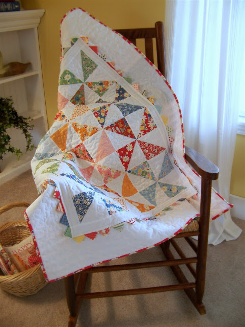 Baby Quilt on Rocker good