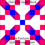 """Glory Be Quilt Block Free Pattern for a 12"""" quilt block at QuiltTherapy.com!"""