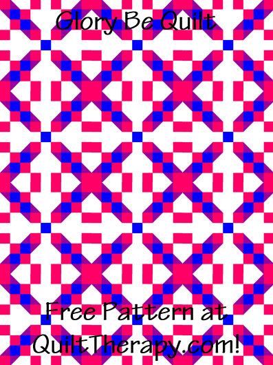 """Glory Be Quilt Block Free Pattern for a 36"""" x 48"""" quilt at QuiltTherapy.com!"""