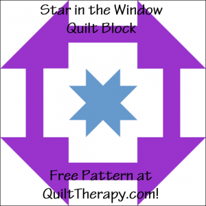"""Star in the Window Quilt Block Free Pattern for a 12"""" quilt block at QuiltTherapy.com!"""