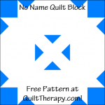 """No Name Quilt Block Free Pattern for a 12"""" quilt block at QuiltTherapy.com!"""