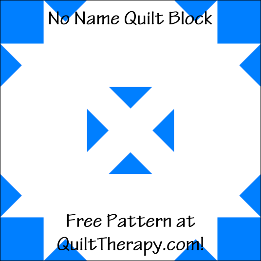 "No Name Quilt Block Free Pattern for a 12"" quilt block at QuiltTherapy.com!"