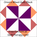 """Orion's Wheel Quilt Block Free Pattern for a 12"""" quilt block at QuiltTherapy.com!"""