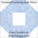 "Snowball Variation Quilt Block Free Pattern for a 12"" quilt block at QuiltTherapy.com!"