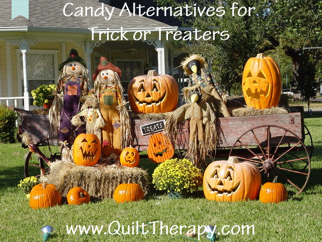 Candy Alternatives for Trick or Treaters from QuiltTherapy.com