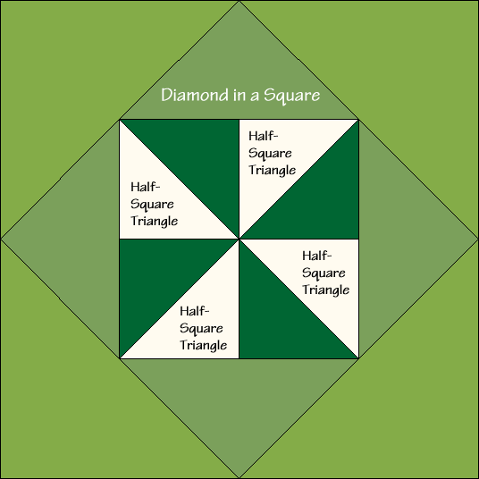 Columbia Pinwheel Quilt Block Diagram