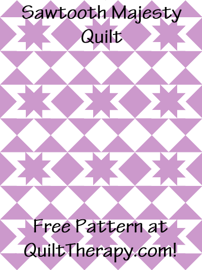"Sawtooth Majesty Quilt Block Free Pattern for a 36"" x 48"" quilt at QuiltTherapy.com!"