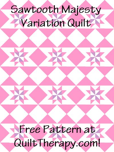 "Sawtooth Majesty Variation Quilt Block Free Pattern for a 36"" x 48"" quilt at QuiltTherapy.com!"