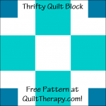 """Thrifty Quilt Block Free Pattern for a 12"""" quilt block at QuiltTherapy.com!"""