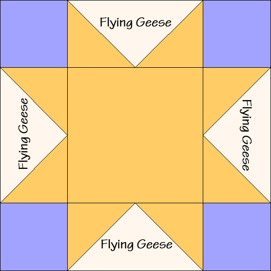 Sawtooth Star Quilt Block Diagram