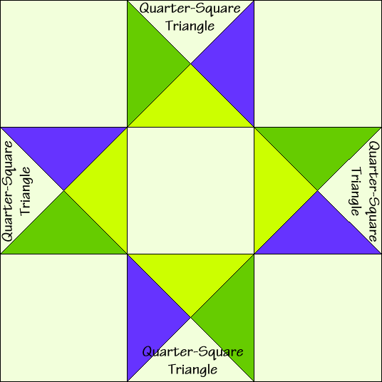 Twin Star Quilt Block Diagram Free Pattern at QuiltTherapy.com!