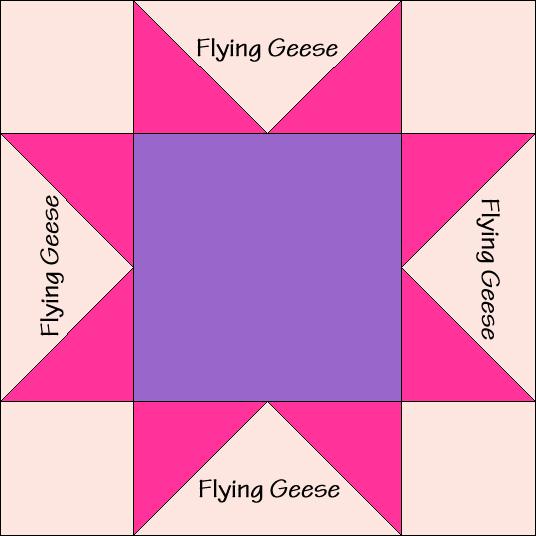 Sawtooth Star Variation Diagram Quilt Block