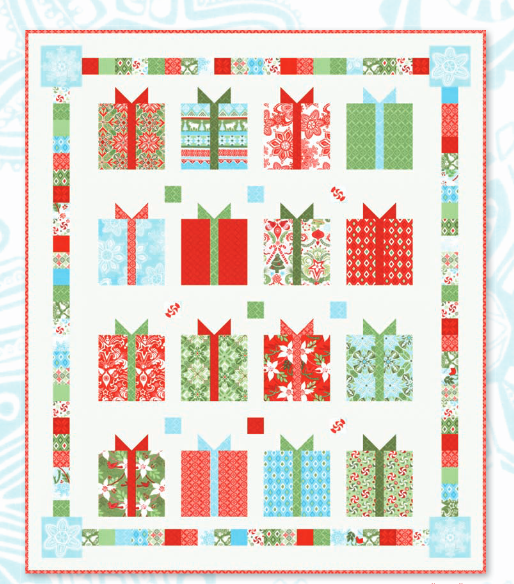 """Flurry"" Free Quilt Pattern designed by Kate Spain from Moda brought to you by www.QuiltTherapy.com"
