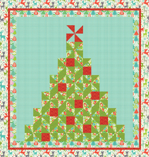 """Tinsel"" Free Quilt Pattern designed by Maude Asbury from Blend Fabrics brought to you by www.QuiltTherapy.com"