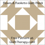 """Baskets & Bows Quilt Block Free Pattern for a 12"""" quilt block at QuiltTherapy.com!"""