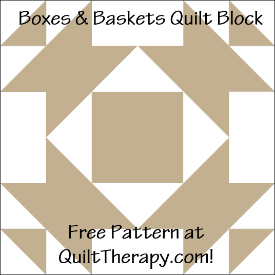 "Baskets & Bows Quilt Block Free Pattern for a 12"" quilt block at QuiltTherapy.com!"