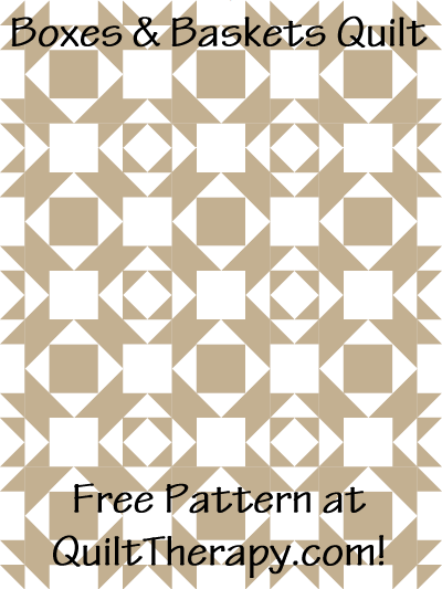 "Baskets & Bows Quilt Free Pattern for a 36"" x 48"" quilt at QuiltTherapy.com!"