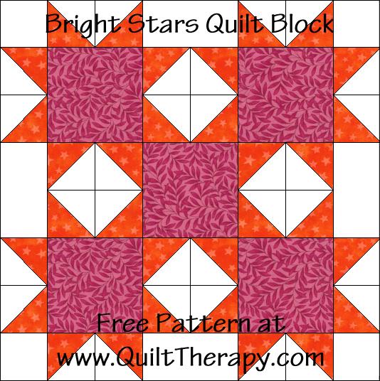 Bright Stars Quilt Block