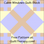 """Cabin Windows Quilt Block Free Pattern for a 12"""" quilt block at QuiltTherapy.com!"""