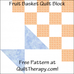 "Fruit Basket Quilt Block Free Pattern for a 12"" quilt block at QuiltTherapy.com!"