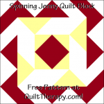 """Spinning Jenny Quilt Block Free Pattern for a 12"""" quilt block at QuiltTherapy.com!"""