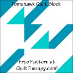 """Tomahawk Quilt Block Free Pattern for a 12"""" quilt block at QuiltTherapy.com!"""