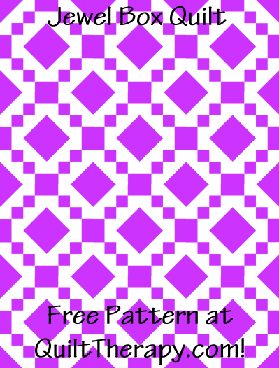 """Jewel Box Quilt Free Pattern for a 36"""" x 48"""" quilt at QuiltTherapy.com!"""