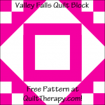 """Valley Falls Quilt Block Free Pattern for a 12"""" quilt block at QuiltTherapy.com!"""