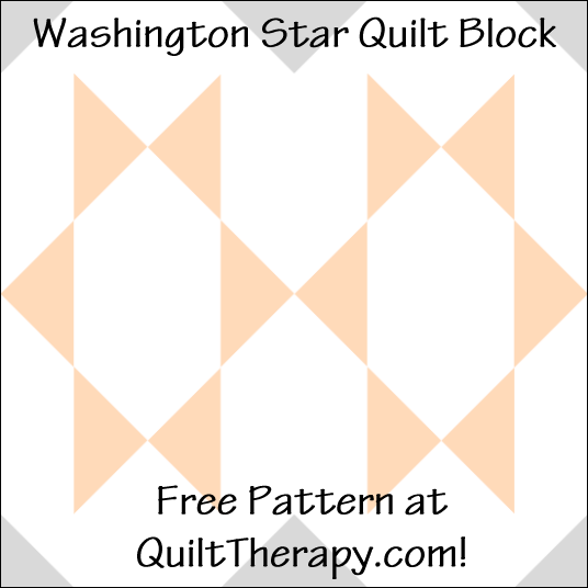 """Washington Star Quilt Block Free Pattern for a 12"""" quilt block at QuiltTherapy.com!"""