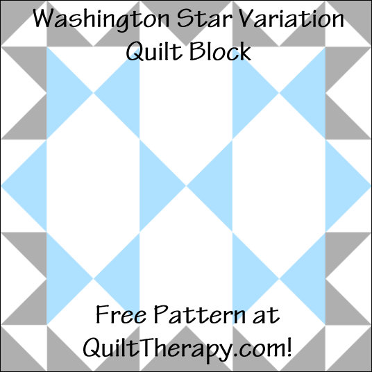 """Washington Star Variation Quilt Block Free Pattern for a 12"""" quilt block at QuiltTherapy.com!"""