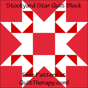 """Stockyard Star Quilt Block Free Pattern for a 12"""" quilt block at QuiltTherapy.com!"""