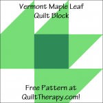 "Vermont Maple Leaf Quilt Block Free Pattern for a 12"" quilt block at QuiltTherapy.com!"