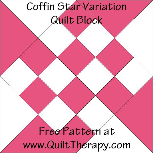 Coffin Star Variation Quilt Block