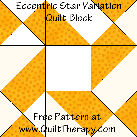 Eccentric Star Variation Quilt Block