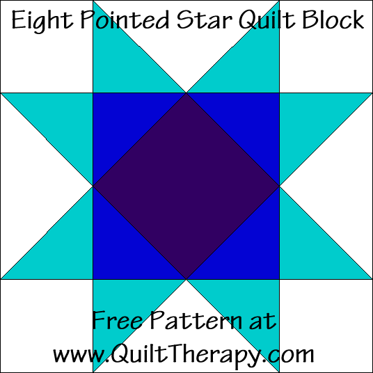 Eight Pointed Star Quilt Block