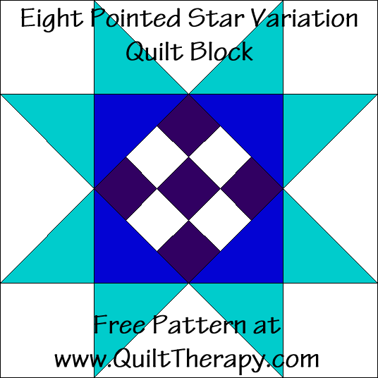 Eight Pointed Star Variation Quilt Block