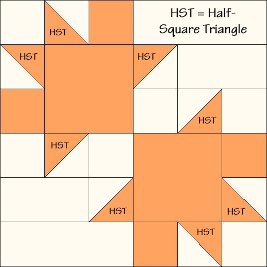 Fig Leaf Quilt Block Diagram