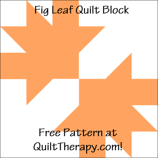 "Fig Leaf Quilt Block Free Pattern for a 12"" quilt block at QuiltTherapy.com!"