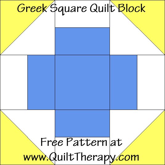 Greek Square Quilt Block