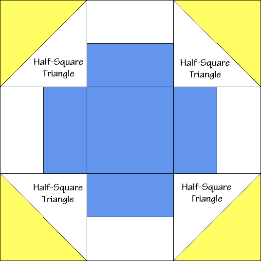 Greek Square Quilt Block Diagram