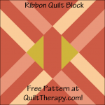 """Ribbon Quilt Block Free Pattern for a 12"""" quilt block at QuiltTherapy.com!"""