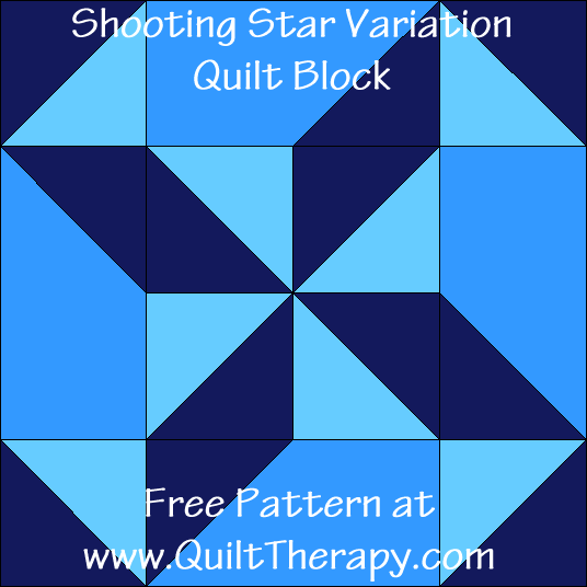Shooting Star Variation Quilt Block