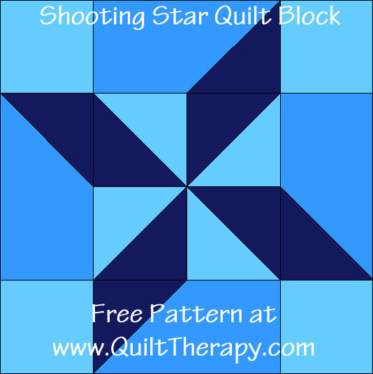 Shooting Star Quilt Block