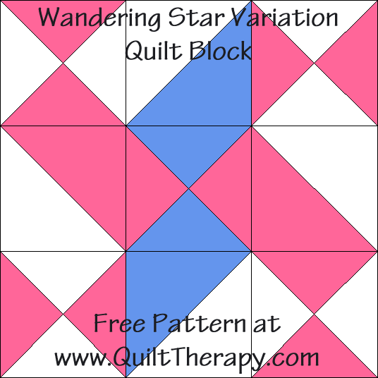 Wandering Star Variation Quilt Block