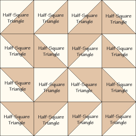 Yankee Puzzle Quilt Block Diagram