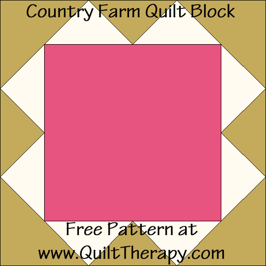 Country Farm Quilt Block Free Pattern at QuiltTherapy.com!