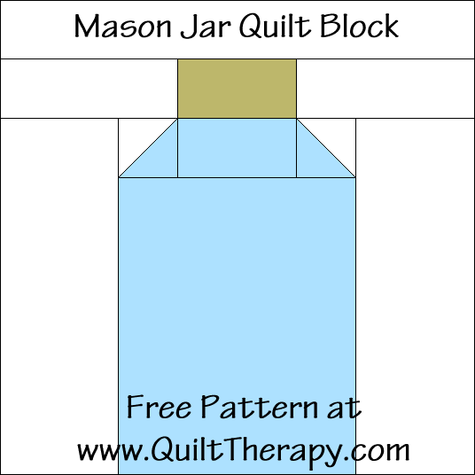 Mason Jar Quilt Block Free Pattern at QuiltTherapy.com!