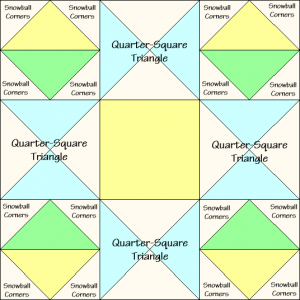 Ornate Star Quilt Block Diagram