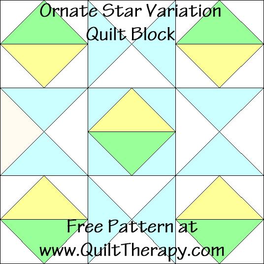 Ornate Star Variation Quilt Block