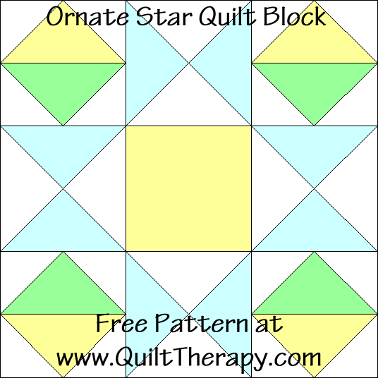 Ornate Star Quilt Block